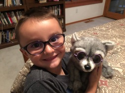 Ajay and raccoon